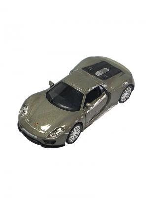 Машинка Инерционная Porsche 918 Spyder, Серебро (1:32) (PS-554030-S) Pit Stop. Цвет: серебристый