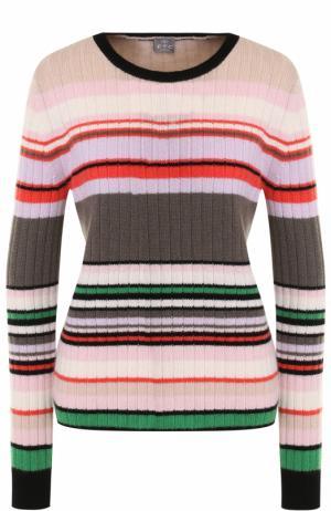 Кашемировый пуловер прямого кроя в полоску FTC. Цвет: разноцветный