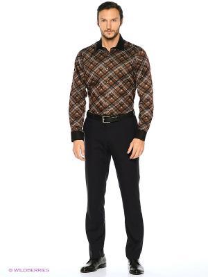 Рубашка KARFLORENS. Цвет: коричневый