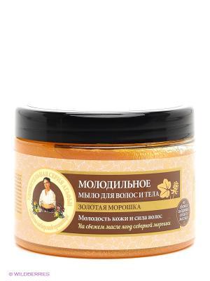 Мыло для волос и тела Молодильное Рецепты бабушки Агафьи. Цвет: бежевый