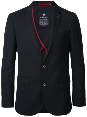 Классический пиджак Loveless. Цвет: чёрный