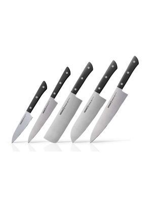 Набор ножей 5 в 1 Samura HARAKIRI коррозионно-стойкая сталь , ABS пластик. Цвет: черный