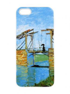 Чехол для iPhone 5/5s Ван Гог - Мост Ланглуа Chocopony. Цвет: голубой, хаки