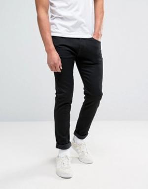 Edwin Заниженные эластичные черные джинсы узкого кроя ED-85. Цвет: черный