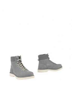 Полусапоги и высокие ботинки RANSOM. Цвет: серый