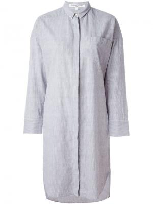 Свободное платье-рубашка Bedouin Valentine Gauthier. Цвет: белый