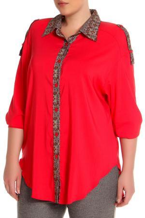 Блуза EVA Collection. Цвет: малиновый