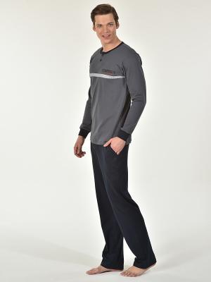 Пижама мужская Kom. Цвет: темно-серый