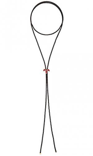 Ожерелье Jacquie Aiche. Цвет: черный