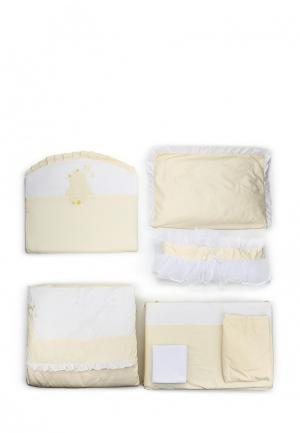 Комплект постельного белья Сонный Гномик. Цвет: бежевый