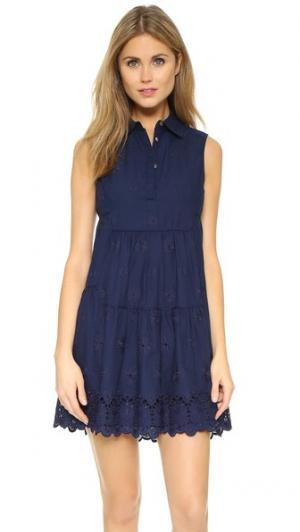 Платье Kit Diane von Furstenberg. Цвет: ночное небо
