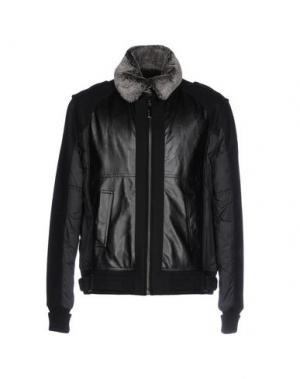 Куртка DOUBLE BLACK. Цвет: черный