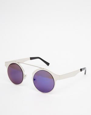 Spitfire Серебристые круглые солнцезащитные очки Intergalactic. Цвет: серебряный