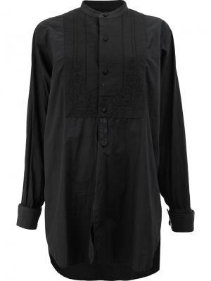 Рубашка свободного кроя Blackyoto. Цвет: чёрный