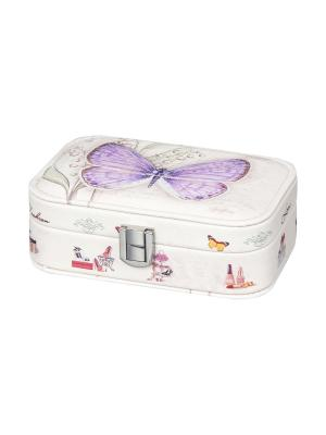 Шкатулка Бабочка лавандовая Elan Gallery. Цвет: розовый, белый, сиреневый