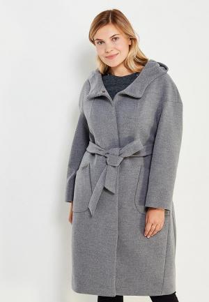 Пальто Electrastyle. Цвет: серый