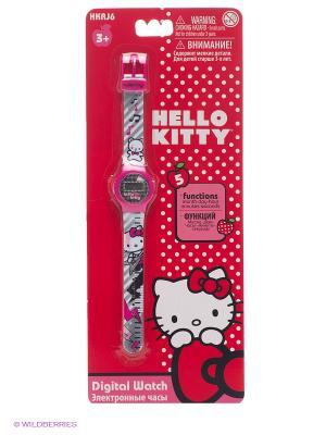 Часы наручные электронные Hello Kitty Музыка. Цвет: серый, розовый