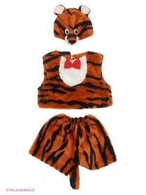 Костюм Тигр Волшебный мир. Цвет: оранжевый
