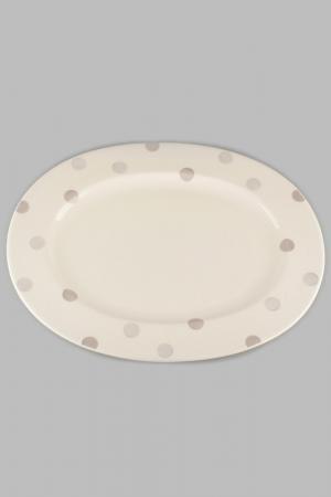 Блюдо 34 см Quality Cermaic. Цвет: бежевый