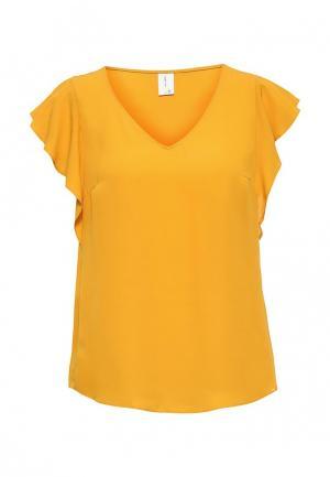 Блуза Piazza Italia. Цвет: желтый