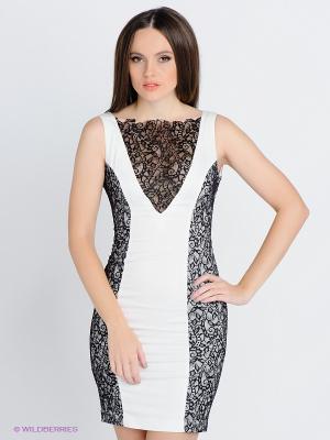 Платье SUGARLIFE. Цвет: белый, черный