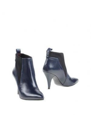 Полусапоги и высокие ботинки WO MILANO. Цвет: темно-синий