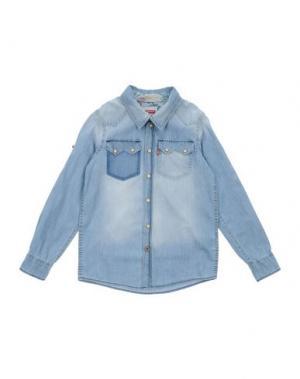 Джинсовая рубашка LEVI'S KIDSWEAR. Цвет: синий