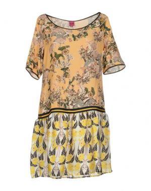 Короткое платье SAVE THE QUEEN. Цвет: абрикосовый