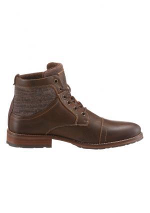 Высокие ботинки Bullboxer. Цвет: темно-коричневый потертый