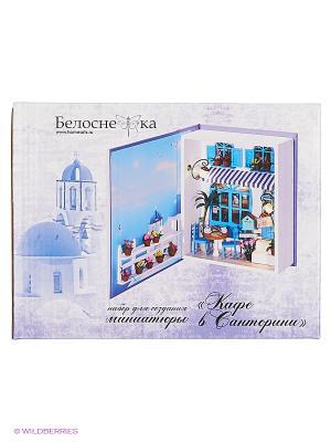 Декор. Набор для создания миниатюры Кафе в Санторини Белоснежка. Цвет: голубой