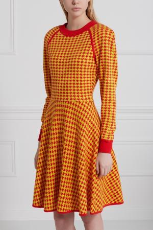 Хлопковое платье (1980-е) Bill Blass Vintage. Цвет: желтый