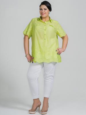 Блузка Silver-String. Цвет: салатовый