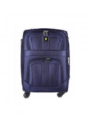 Чемодан-дорожная сумка на колесиках, размер S, 35.7 л Sun Voyage. Цвет: темно-фиолетовый
