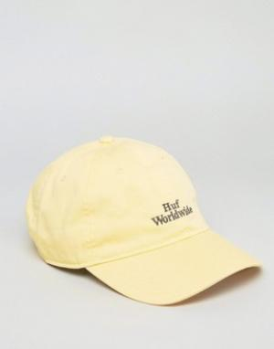 HUF Кепка с логотипом. Цвет: желтый