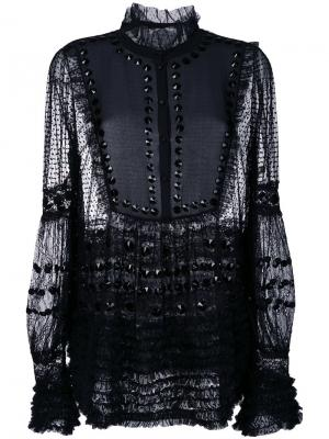 Sheer shift blouse Amen. Цвет: чёрный