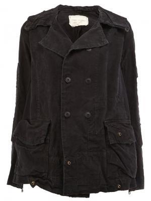 Двубортная куртка Greg Lauren. Цвет: чёрный