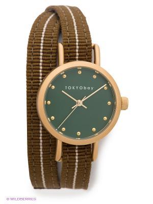 Часы TOKYObay. Цвет: коричневый, бронзовый, зеленый