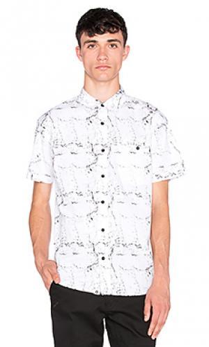 Рубашка с застёжкой на пуговицах camden ourCASTE. Цвет: белый