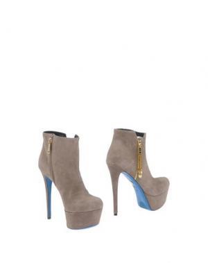 Полусапоги и высокие ботинки LORIBLU. Цвет: голубиный серый