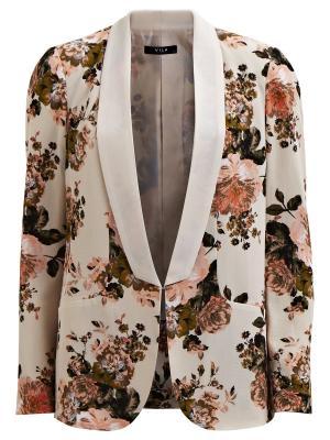 Блейзер Vila. Цвет: бледно-розовый, молочный, хаки