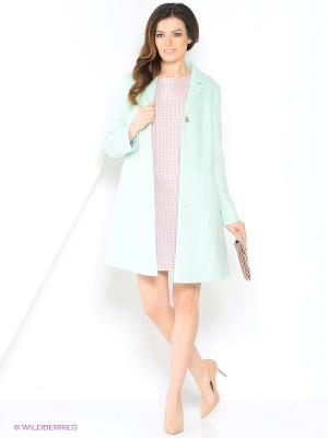 Пальто PAROLE by Victoria Andreyanova. Цвет: светло-зеленый