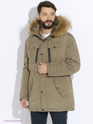 Куртка CONVER. Цвет: светло-серый