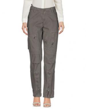 Повседневные брюки STUDS WAR. Цвет: серый
