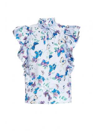 Блуза 164318 Lola By Lolita Shonidi. Цвет: синий