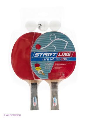 Набор для настольного тенниса Start Line. Цвет: красный