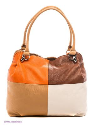 Сумка Palio. Цвет: оранжевый, бледно-розовый, коричневый, светло-коричневый