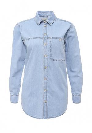 Рубашка джинсовая Topshop. Цвет: голубой