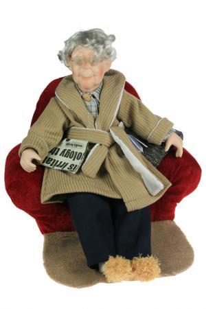 Кукла 46см Русские подарки. Цвет: коричневый, красный, белый
