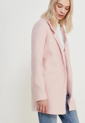 Пальто Vero Moda. Цвет: розовый