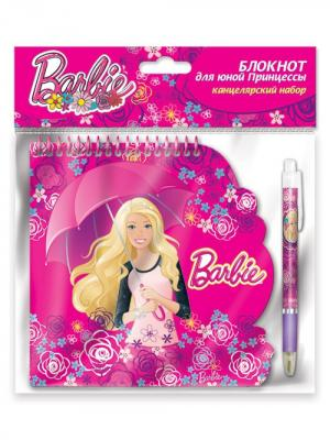 Набор: блокнот 40 листов на спирали + ручка Mattel Barbie. Цвет: розовый